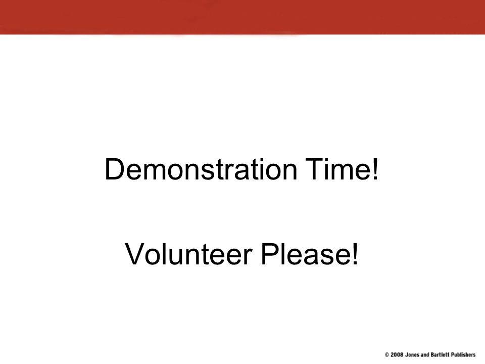 Demonstration Time! Volunteer Please!