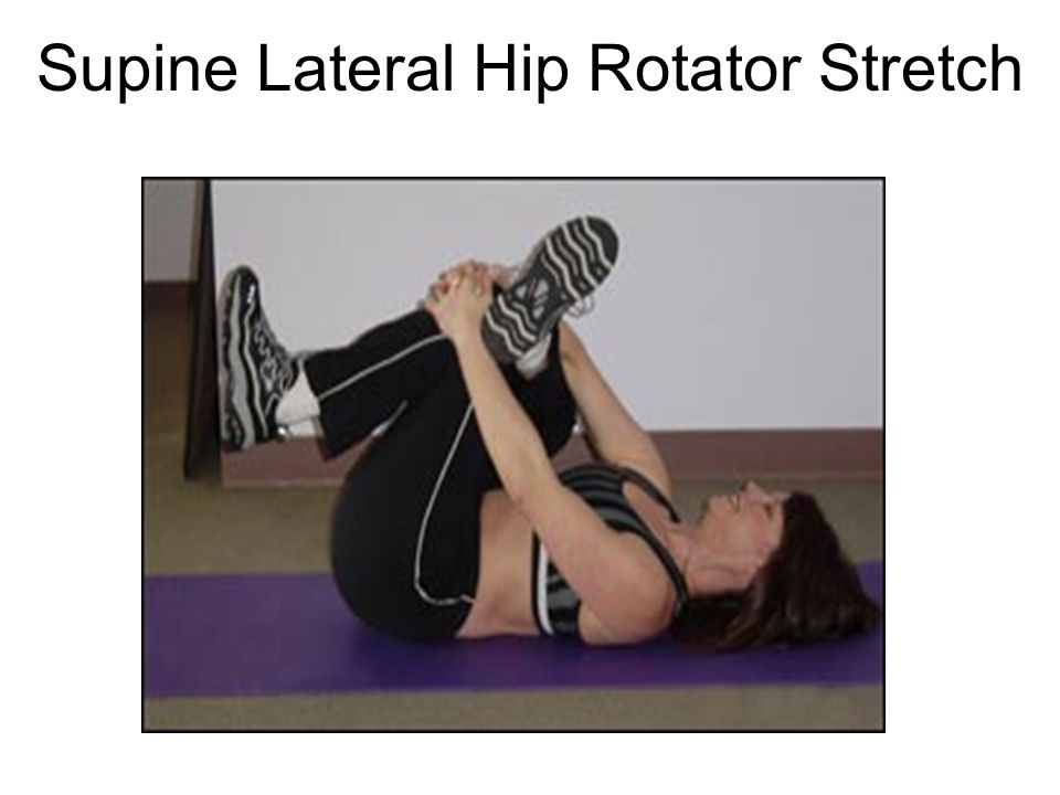 Supine Lateral Hip Rotator Stretch
