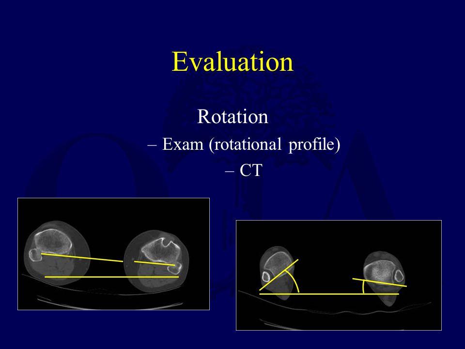 Evaluation Rotation –Exam (rotational profile) –CT