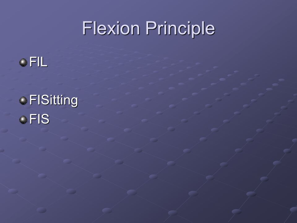 Flexion Principle FlLFISittingFIS