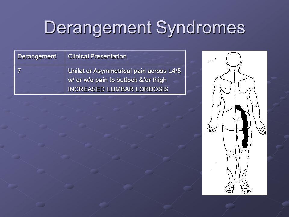 Prognosis Posture – posture correction Dysfunction - time factor Derangement - Centralizer?