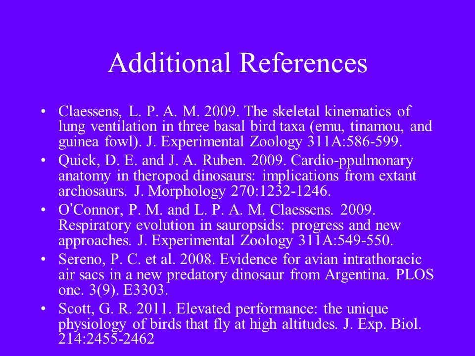 Additional References Claessens, L. P. A. M. 2009.