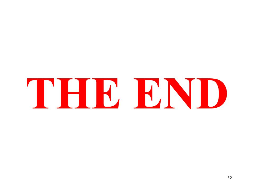 58 THE END