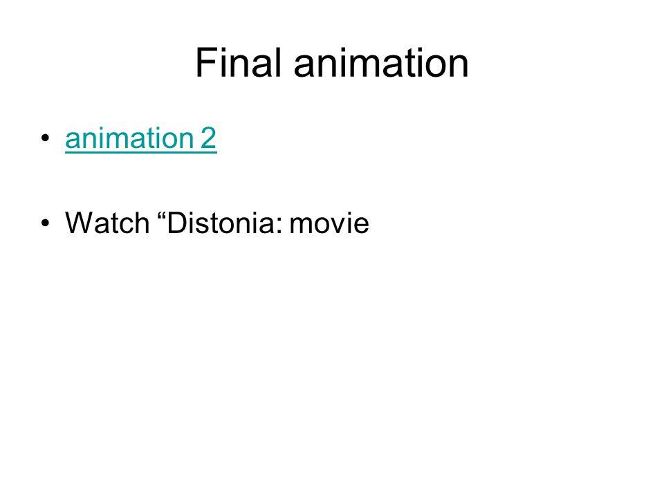 "Final animation animation 2 Watch ""Distonia: movie"