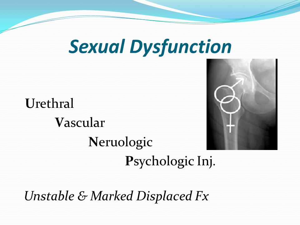 Men,s Sexual Dysfunction Posterior Urethral Inj.