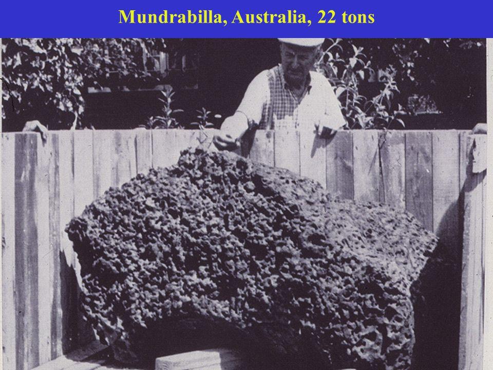 Mundrabilla, Australia, 22 tons