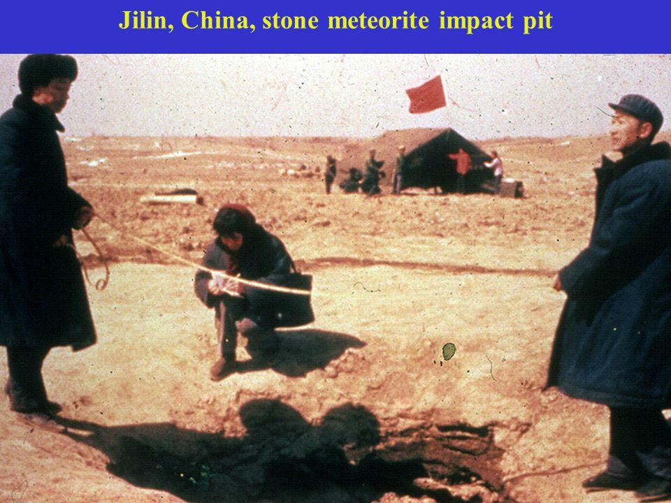 Jilin, China, stone meteorite impact pit