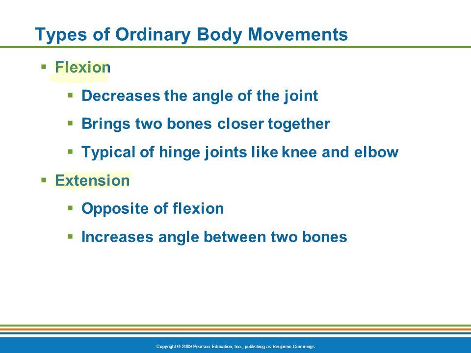Copyright © 2009 Pearson Education, Inc., publishing as Benjamin Cummings Special Movements Figure 6.13e Ankle Dorsiflexion/Plantar Flexion PLAY