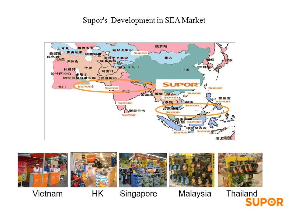 Supor s Development in SEA Market VietnamThailandSingaporeMalaysia HK