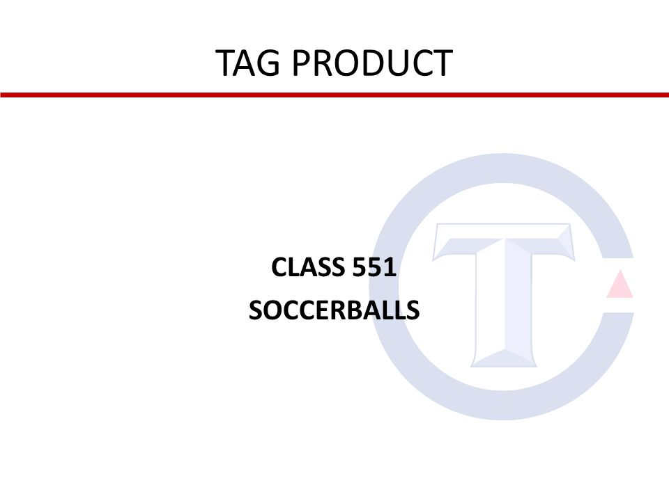 CLASS 551 SOCCERBALLS