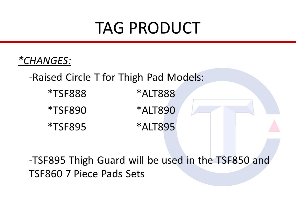 TAG PRODUCT CLASS 399 MISCELLANEOUS