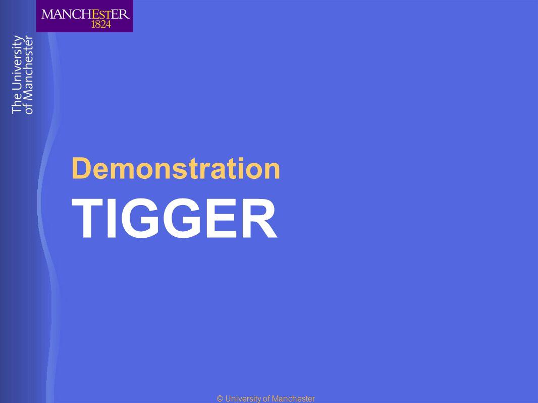 © University of Manchester Demonstration TIGGER