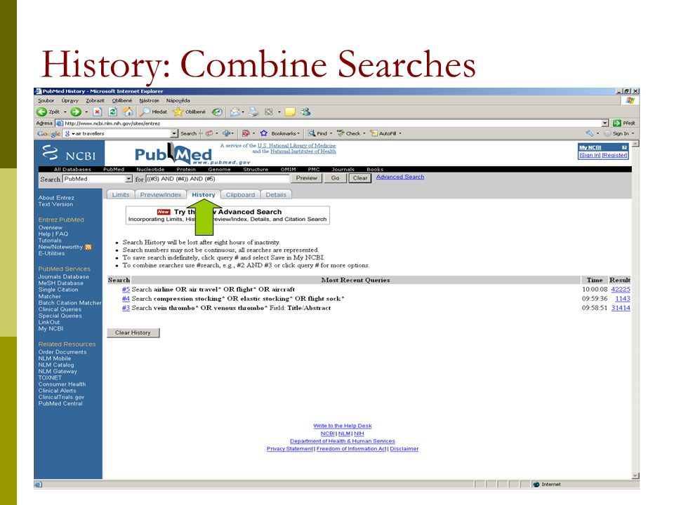 12 History: Combine Searches