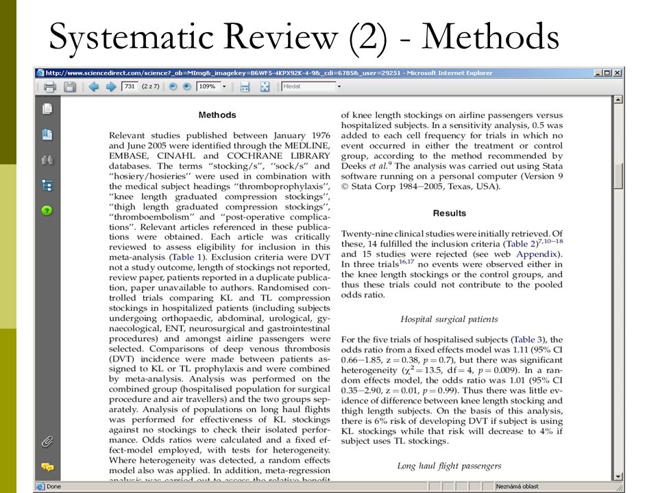 20 Systematic Review (2) - Methods