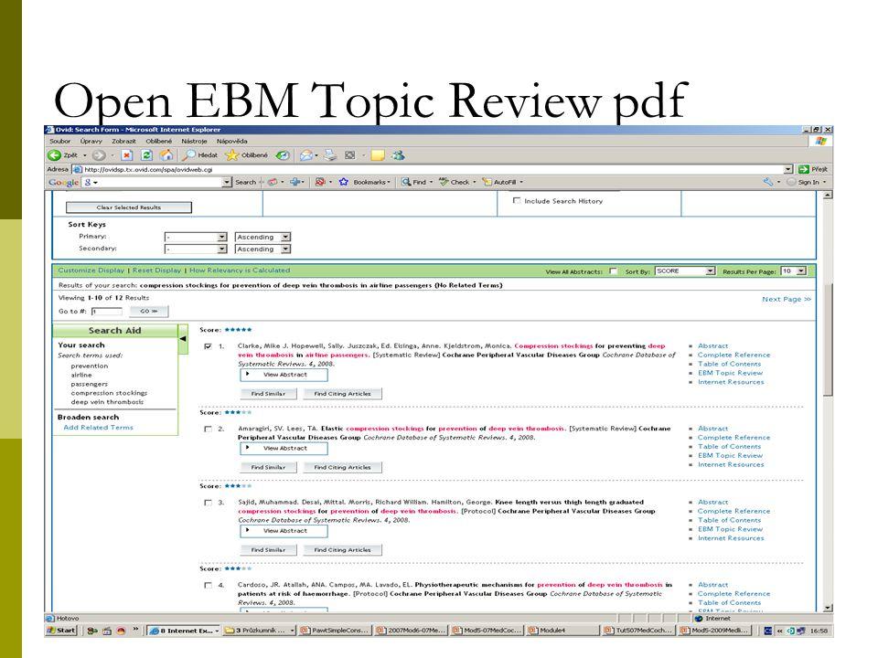 31 Open EBM Topic Review pdf