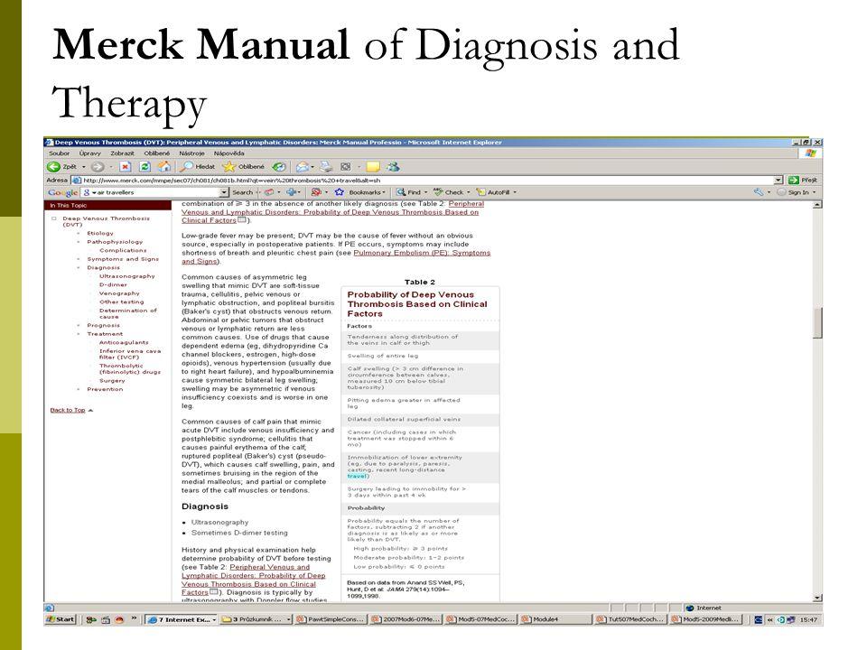 7 Merck Manual of Diagnosis and Therapy