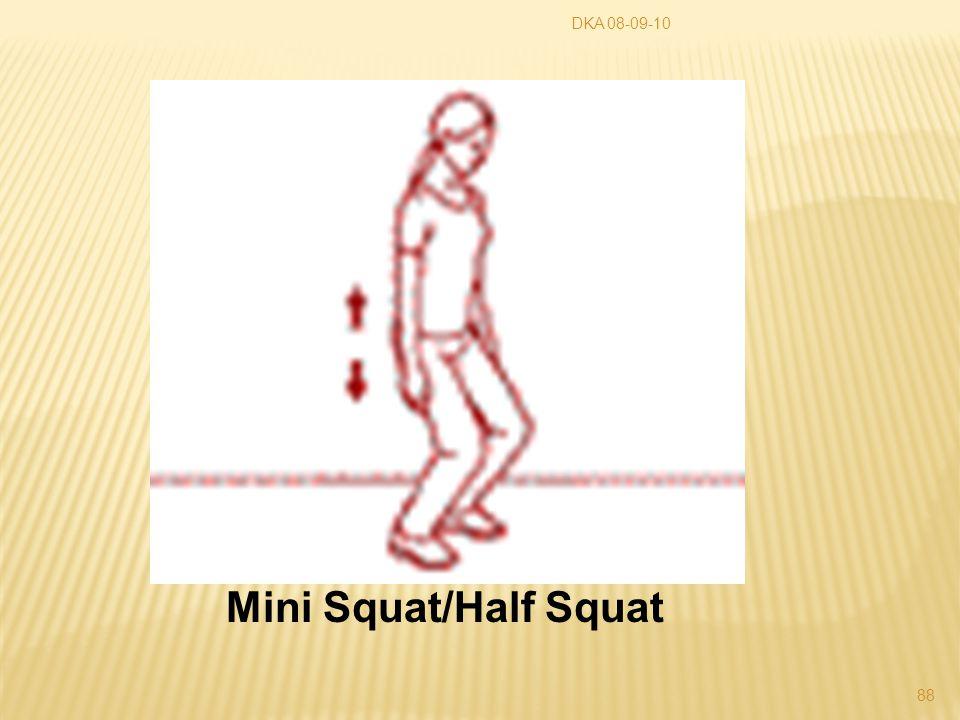 DKA 08-09-10 88 Mini Squat/Half Squat