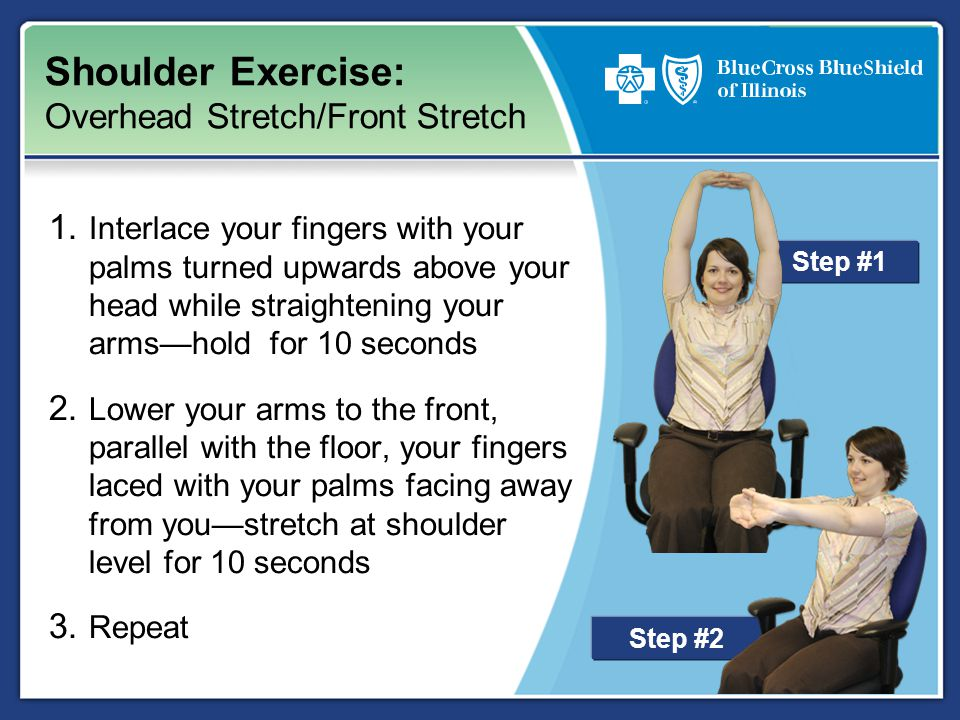 Step #2 Shoulder Exercise: Overhead Stretch/Front Stretch 1.