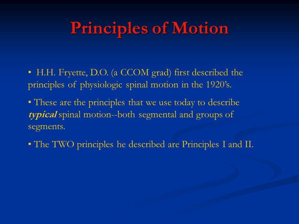 Principles of Motion H.H.Fryette, D.O.