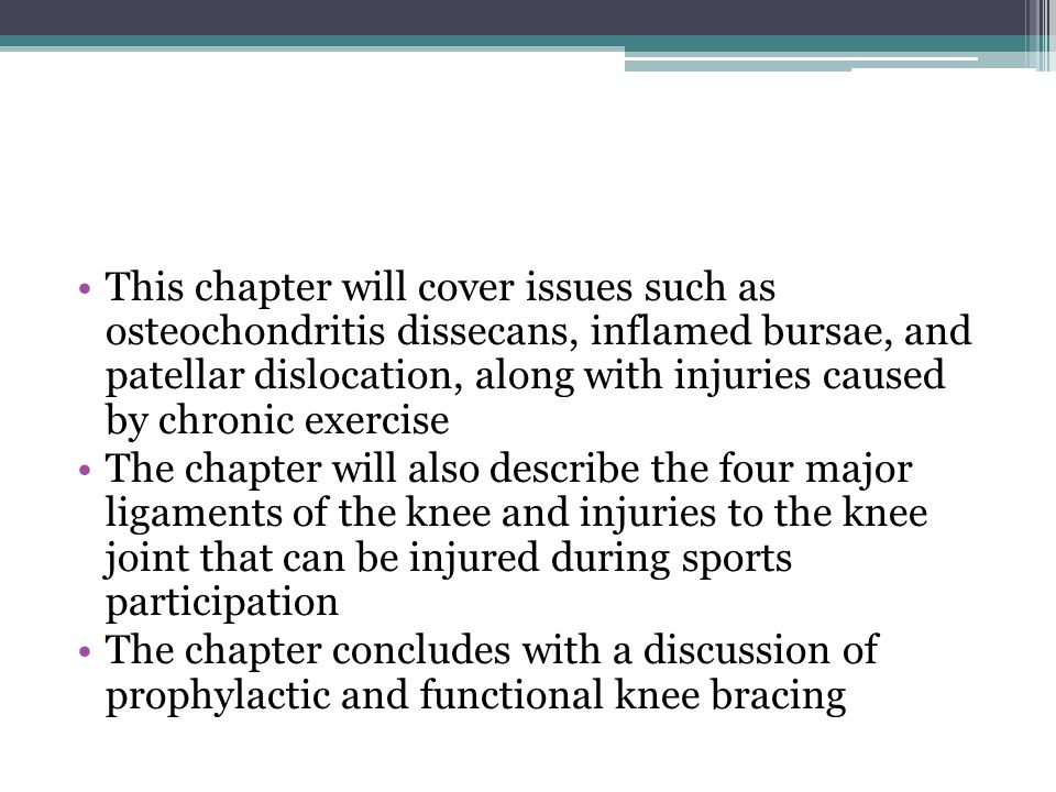 Myositis Ossificans… The early mobilization in this case must be well controlled The athlete should not be allowed to participate in full contact practice or competition until complete healing has occurred The area should be padded if the athlete continues to participate Moreover, the athlete should be well aware of the long-term consequences of continued trauma to the area