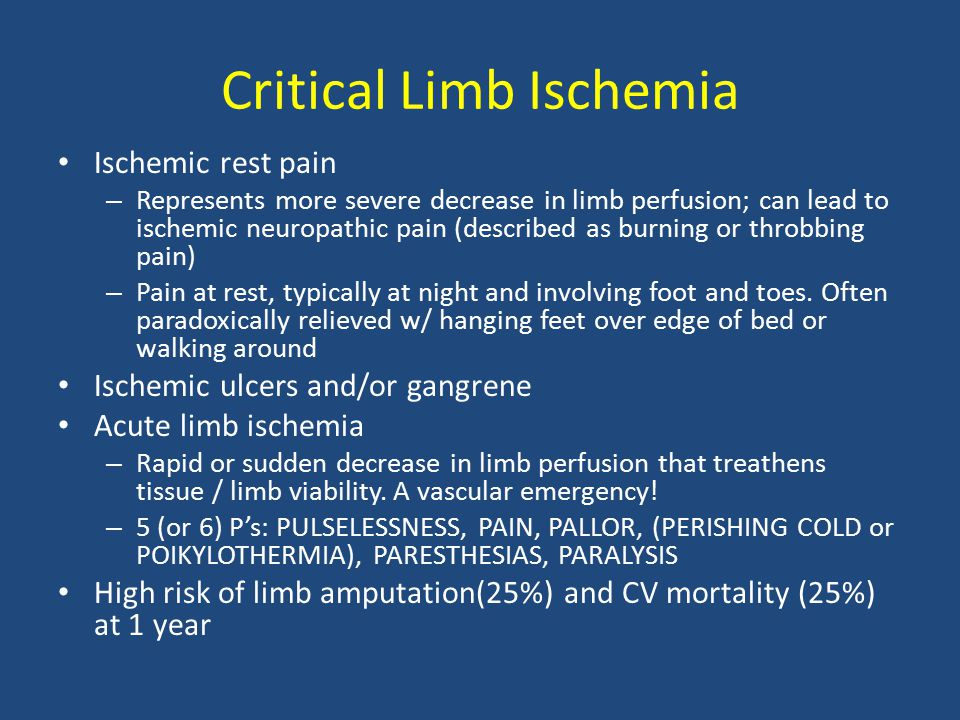 Acute limb ischemia Images courtesy of Mr.