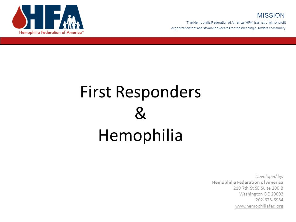 Definition of Hemophilia A group of hereditary bleeding disorders in which there is a deficiency of one of the factors necessary for coagulation of blood Hemophilia A - absence or deficiency of FVIII; also known as Classic Hemophilia – This is what {insert patient's name} has.