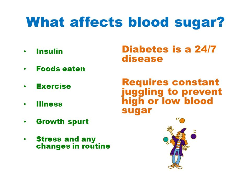 What affects blood sugar.