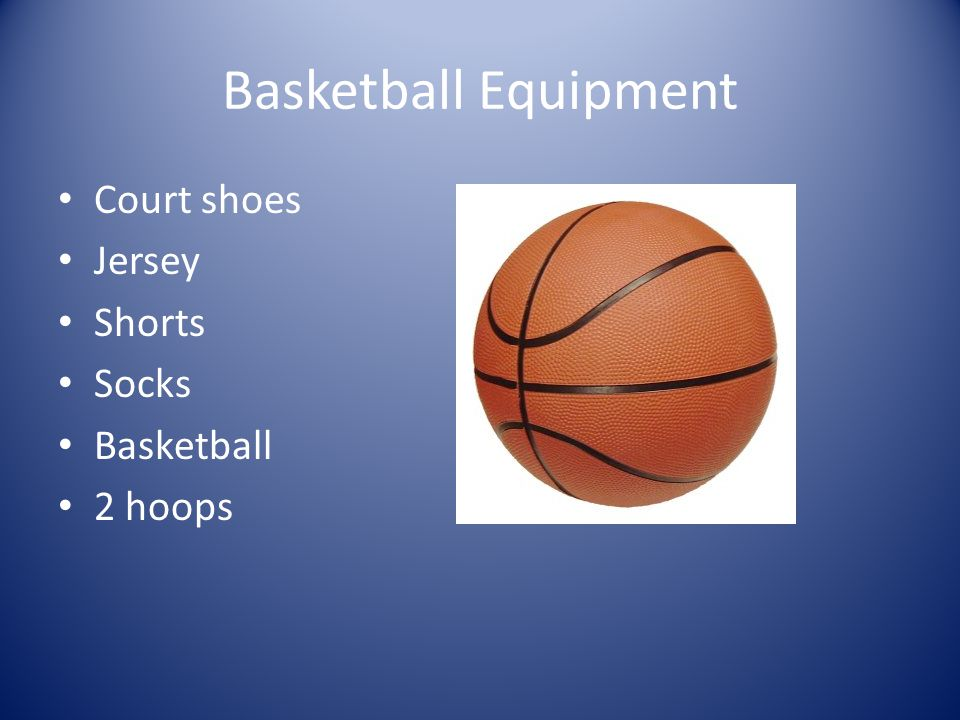Basketball Equipment Court shoes Jersey Shorts Socks Basketball 2 hoops