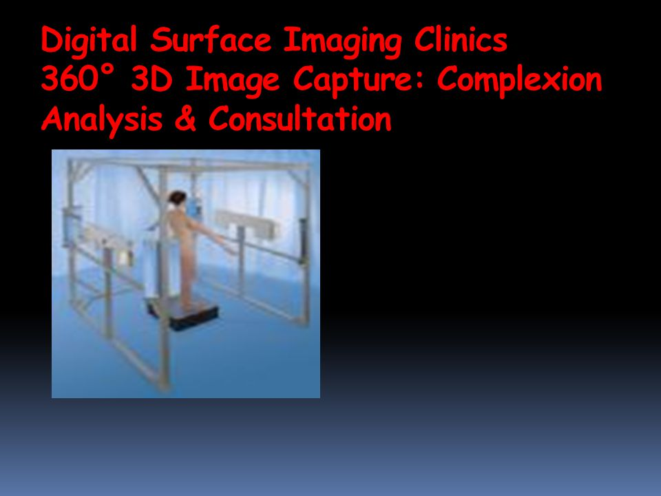 Digital Surface Imaging Clinics 360° 3D Image Capture: Complexion Analysis & Consultation