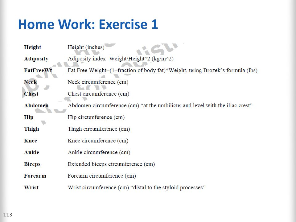 Home Work: Exercise 1 113