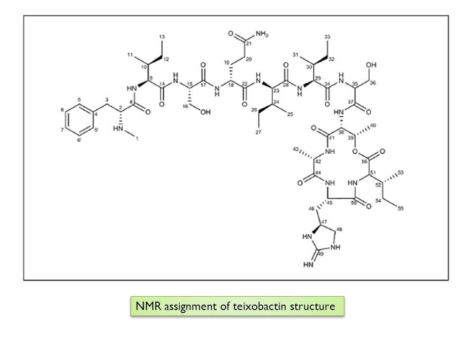 NMR assignment of teixobactin structure