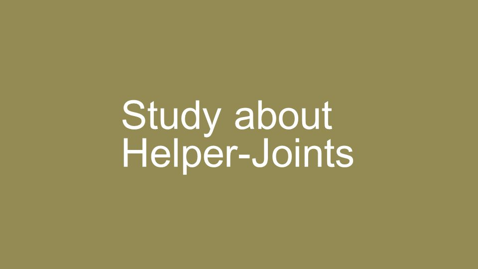 Study about Helper-Joints