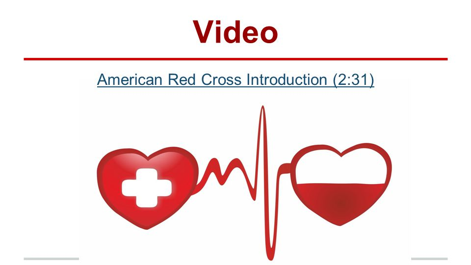 Video American Red Cross Introduction (2:31)