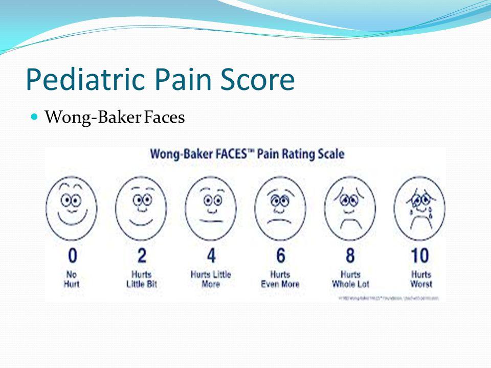 Pediatric Pain Score Wong-Baker Faces