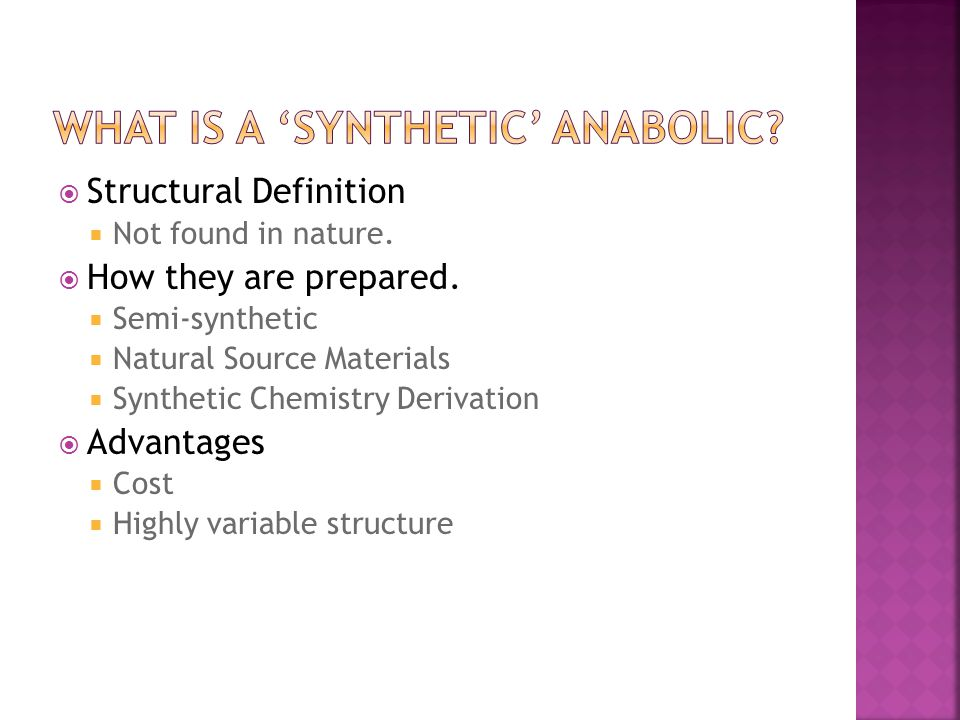  Structural Definition  Not found in nature.  How they are prepared.