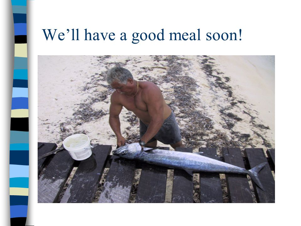 We'll have a good meal soon!
