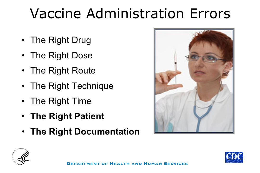 Vaccine Administration Errors The Right Drug The Right Dose The Right Route The Right Technique The Right Time The Right Patient The Right Documentati