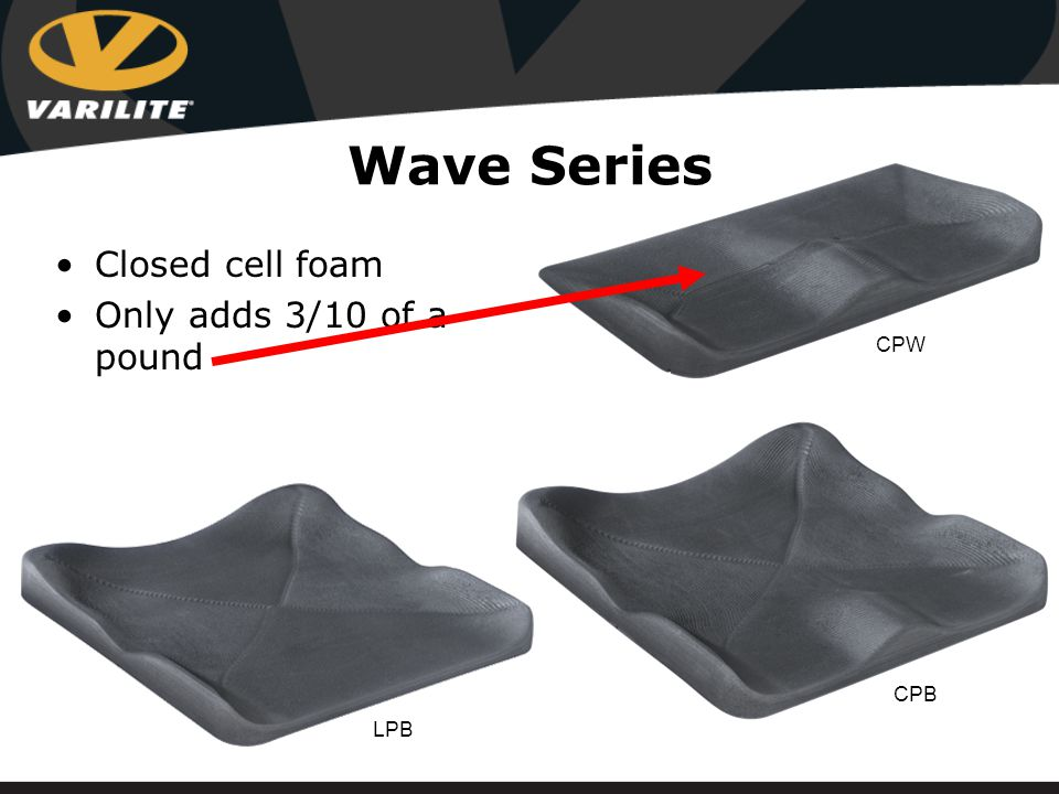 Wave Series Closed cell foam Only adds 6/10 of a pound CPW LPB CPB