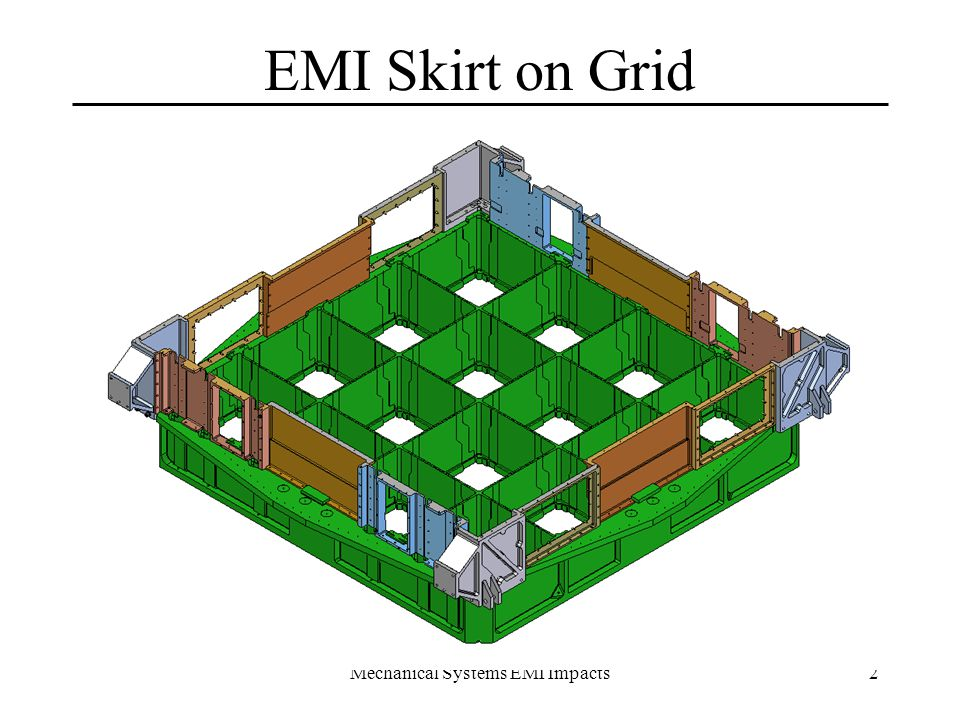 Mechanical Systems EMI Impacts13 X-LAT Butt Joint