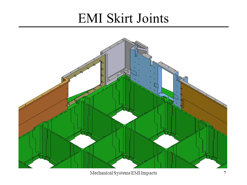 Mechanical Systems EMI Impacts18 Finding 11b – LAT Level Radiator EMI Test Radiators should be installed for LAT level EMI test –Agree I&T needs to access impacts to current flow –S/C regulated power needs to be available Systems Engr.