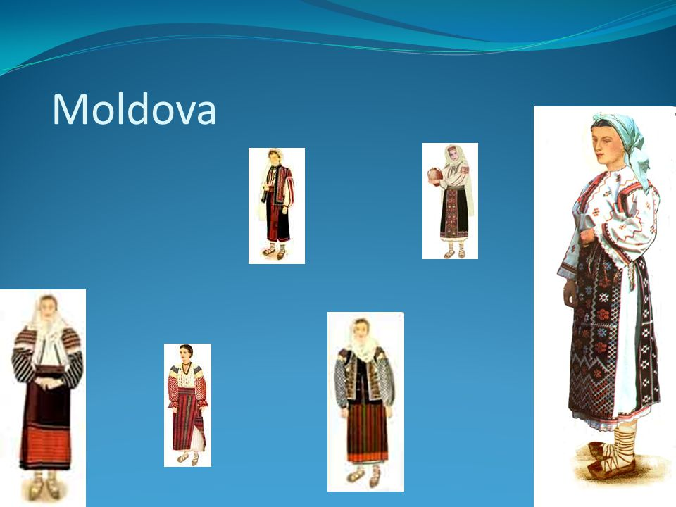 In Dobroudja women wear blouse, skirt. Two aprons, different in size and design