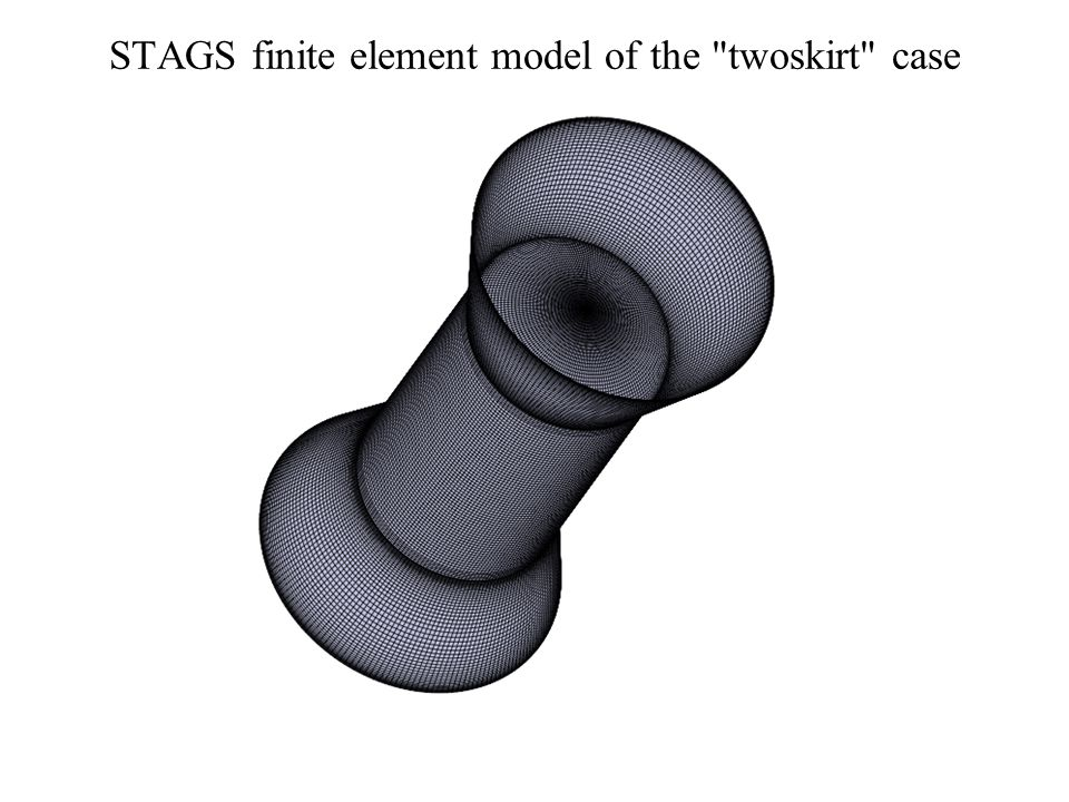 STAGS finite element model of the twoskirt case