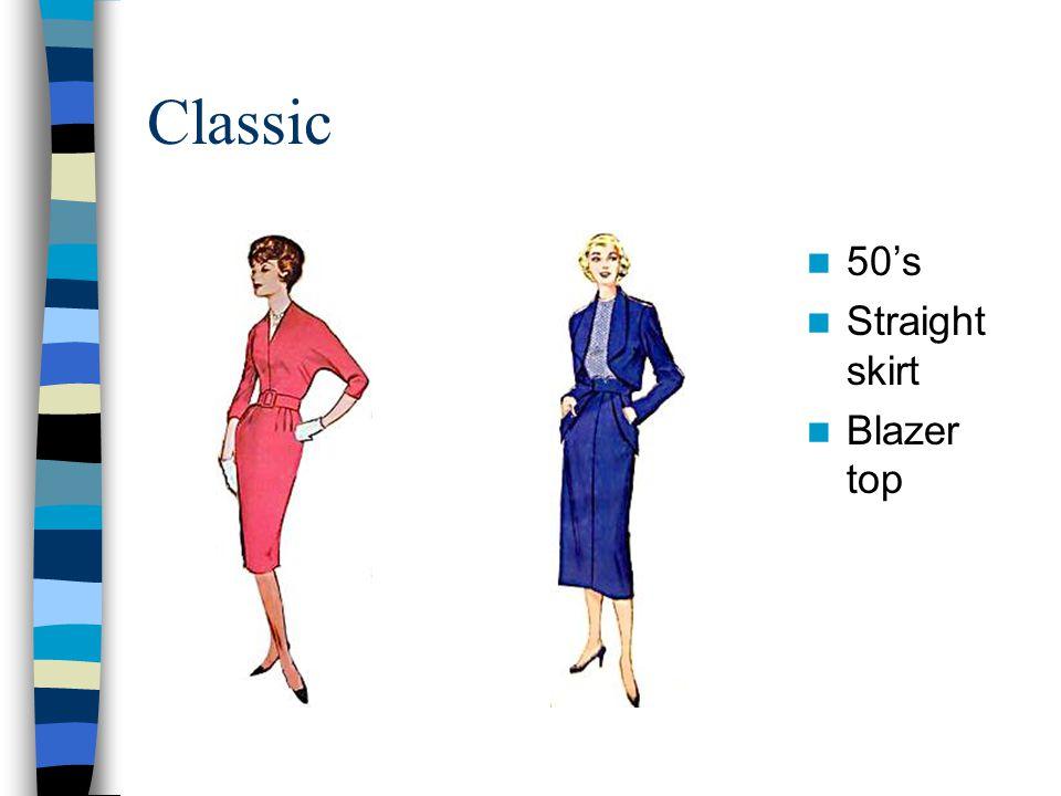 Classic 50's Straight skirt Blazer top