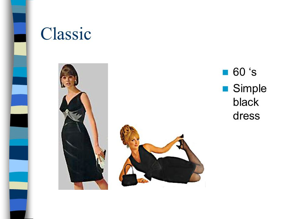 Classic 60 's Simple black dress