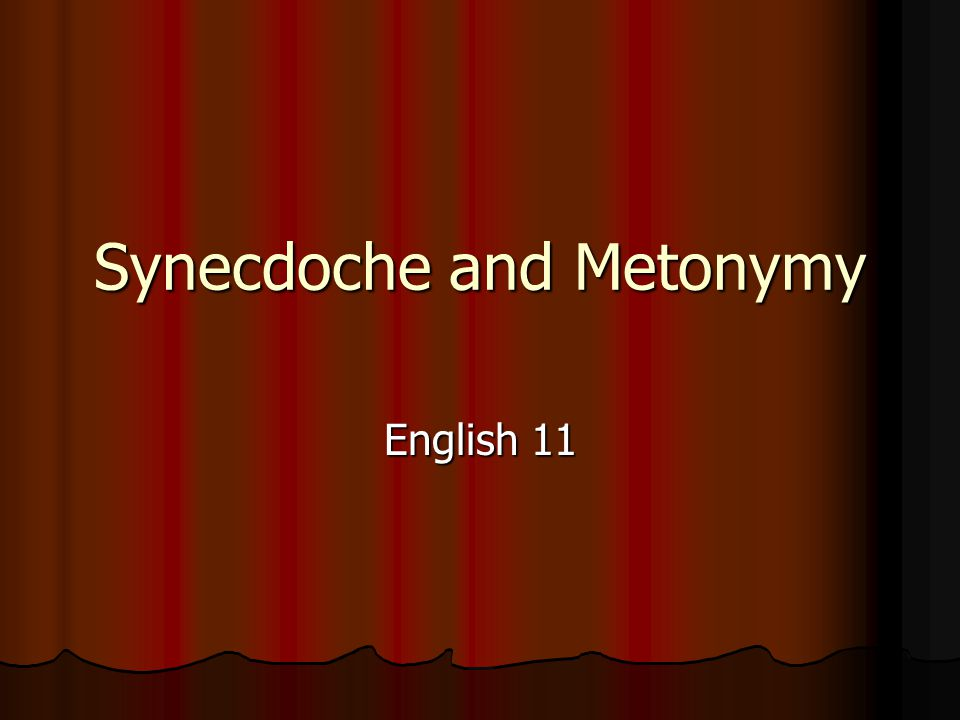 Metonymy - Pronounced: Meh-Ton-Ah-Me - Definition: A figure of speech in which one word or phrase is substituted for another with which it is closely associated.