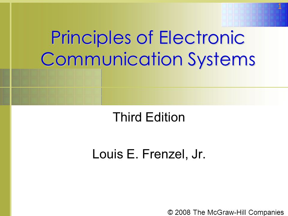 © 2008 The McGraw-Hill Companies 52 9-4: Intermediate Frequency and Images Direct Conversion Receivers  To demodulate FM and PM modulations in a zero-IF receiver, two mixers and filters are needed.