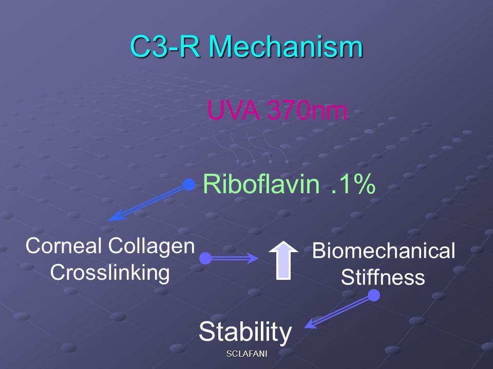 SCLAFANI C3-R Mechanism Riboflavin.1% UVA 370nm Corneal Collagen Crosslinking Biomechanical Stiffness Stability