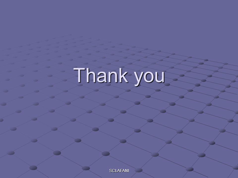 SCLAFANI Thank you
