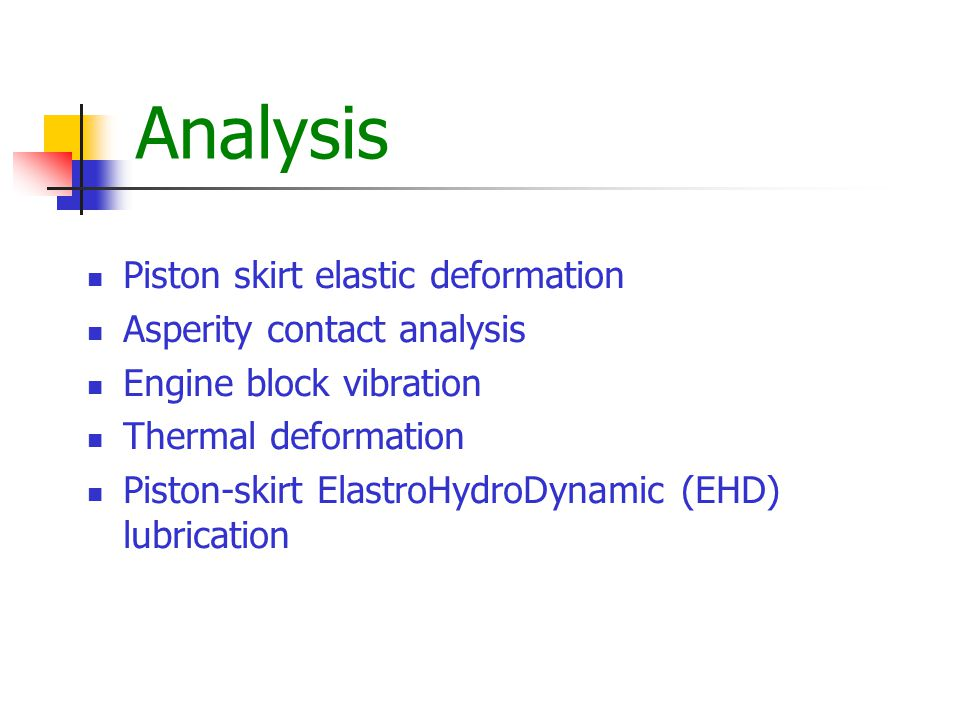Piston Temperature Distribution Skirt Thermal Deformation (Thrust Side) Piston Temperature Distribution