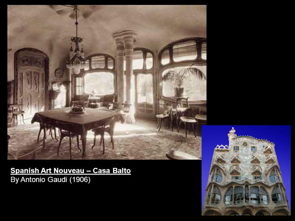 Spanish Art Nouveau – Casa Balto By Antonio Gaudi (1906)